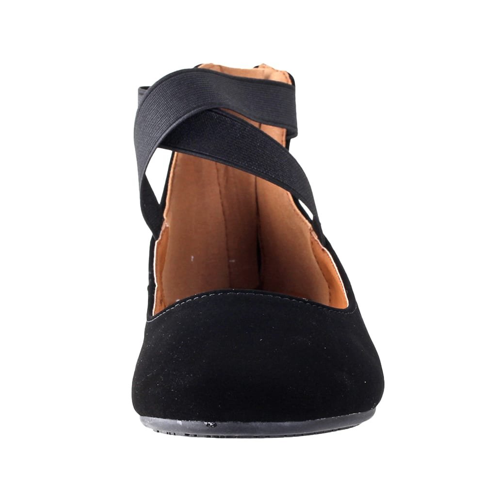 ANNA Shoes Womens Dana-21KB Comfort Flats - Black - 8.5 by ANNA (Image #3)