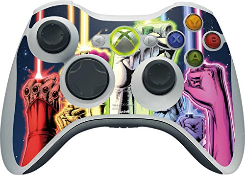 DC Comics Green Lantern Xbox 360 Wireless Controller Skin - Green Lantern Fists in the Air Vinyl Decal Skin For Your Xbox 360 Wireless Controller