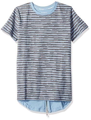 DKNY Boys Big Short Sleeve Hi-lo Crew Neck Jersey T-Shirt