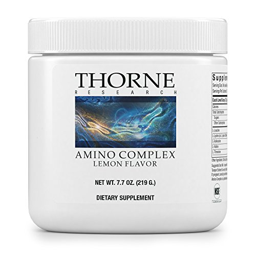 Research Amino Acid (Thorne Research - Amino Complex - BCAA Powder for Sports Performance - NSF Certified for Sport - Lemon Flavor - 7.7 oz)