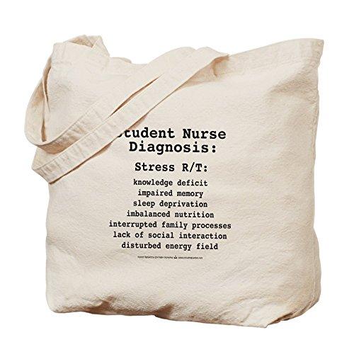 CafePress–Estudiante enfermera diagnóstico–Gamuza de bolsa de lona bolsa, bolsa de la compra