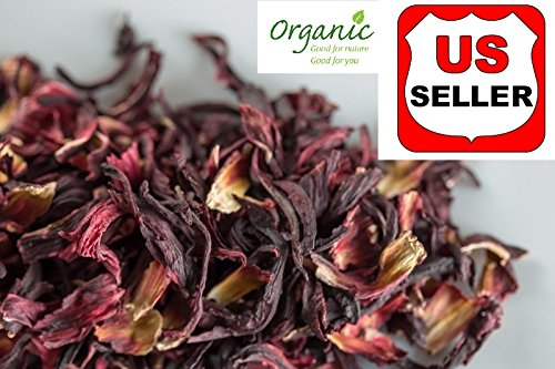 GROWN ORGANICALLY Premium Dried Hibiscus Tea,Hibiscus Flowers Tea,Jaimaica Tea,Fresh and best quality guarantee,UNBEATABLE QUALITY AT THIS PRICE!! (Beverage Cut Hibiscus Tea, 160 oz (10 LB)) by PowerNutri Shop