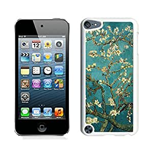 New Fashion Custom Designed Cover Case For iPod 5 With van gogh almond blossom White Phone Case