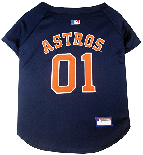 Pets First MLB HOUSTON ASTROS Dog Jersey, Medium. - Pro Team Color Baseball Outfit