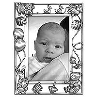 Malden International Designs Nursery Parade Baby Metal Picture Frame