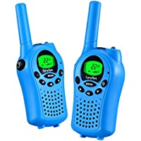 Walkie talkies for kids by KarviPack,22 channel two way radio for kids Easy to use 3-5 Miles(Blue)