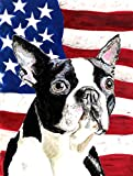 Cheap Caroline's Treasures SC9001CHF USA American Flag with Boston Terrier Flag Canvas, Large, Multicolor