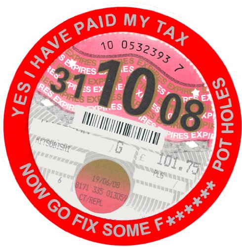 I Have Paid My Tax Now Go Fix Some F****** Potholes Tax Disc Holder Speeding