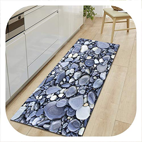 Pebble Twin Mattress - White Island Pebble Printed Doormats for Entrance Door Non-Slip Carpets for Living Room Coffee Table Floor Mats Absorbent Kitchen Rugs,Pebble 07,40X120cm