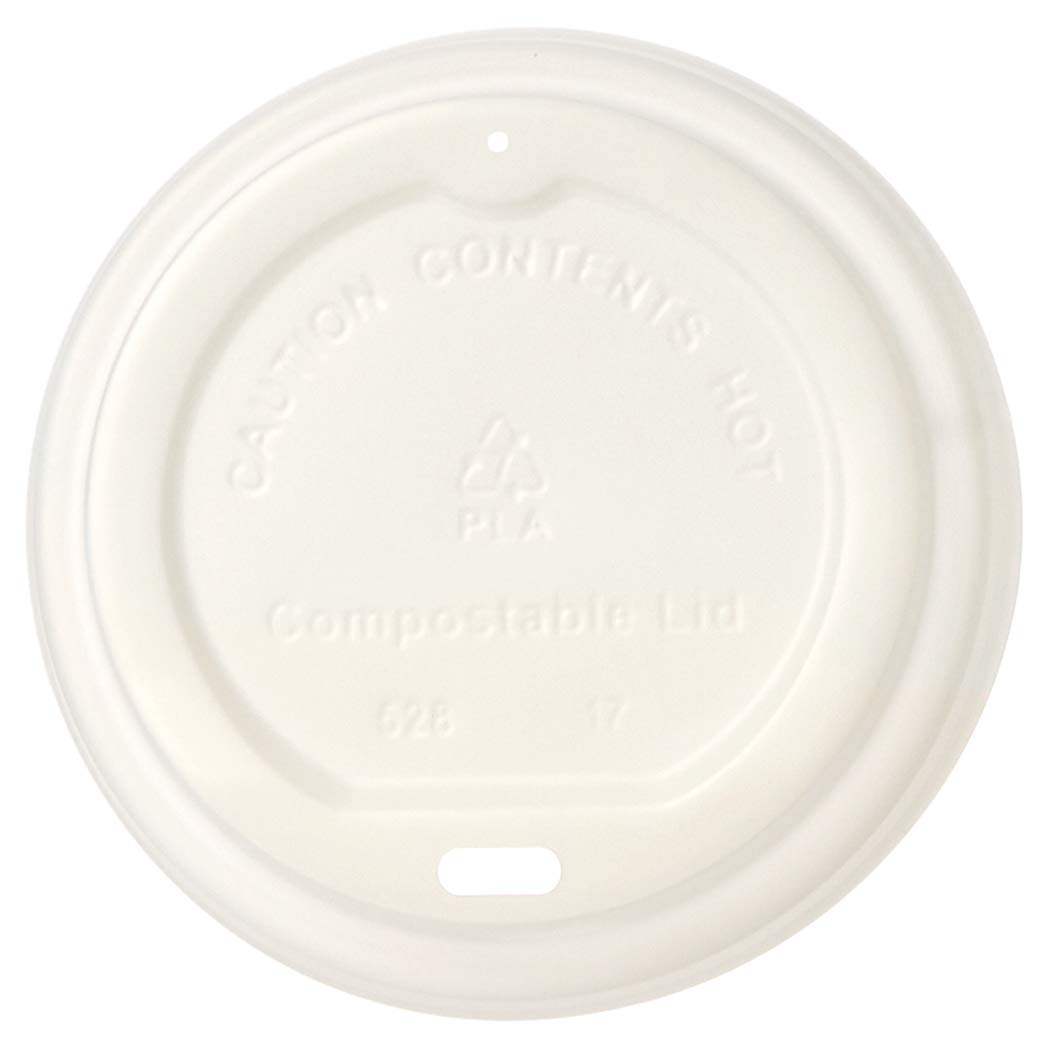 AmazonBasics Compostable Hot Cup Lid for 10 oz. - 20 oz. Cups, Pack of 500