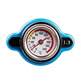 Sporacingrts Big Head Temperature Gauge with Utility Safe 1.3 Bar Thermo Radiator Cap Tank Cover