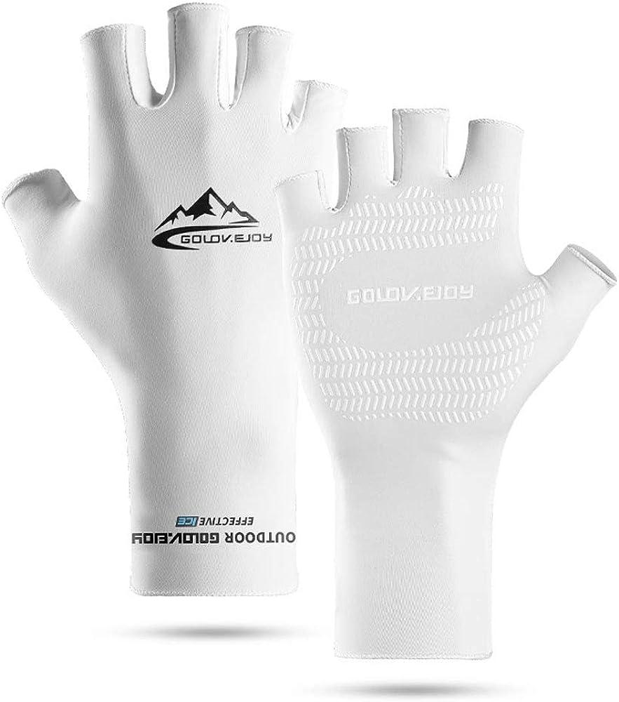 Yjdr Medio dedo guantes hombres del ciclismo Guantes de ...
