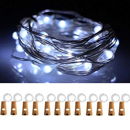 12Pack 20 LED Wine Bottle Cork Lights Copper