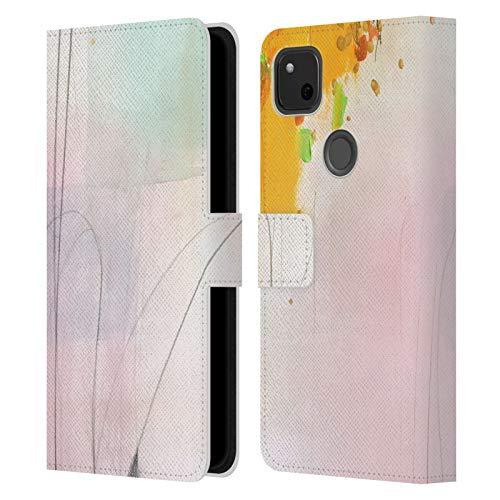 Head Case Designs Oficial MAI Autumn Espejismo Abstracto Carcasa de Cuero Tipo Libro Compatible con Google Pixel 4a