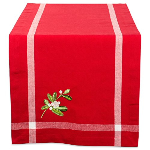 DII 100% Cotton, Machine Washable, Table Runner For Dinner Parties, Christmas and Holidays - 14x108
