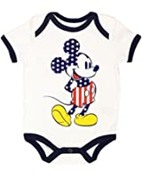 Disney Mickey Mouse Baby Boys USA Stars and Stripes Creeper Bodysuit