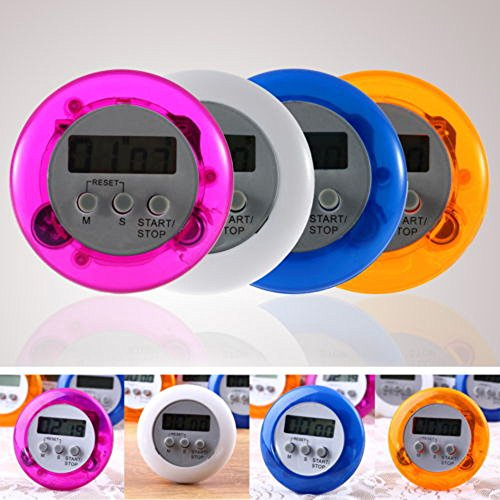 Glumes Digital Kitchen Cooking, Large Display, Strong Magnet Back, Loud Alarm, Memory Recall Function, Count up Countdown Timer for Kids Baking Exercise Game