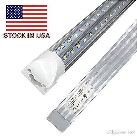 8ft LED Shop Light Fixture, 90w 8500 Lumens 6000K Cold White Cooler ...
