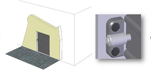 Doppeltor su lancio in acciaio inox 327 x 60 mm hinge torverschluss blocca serrande linguetta