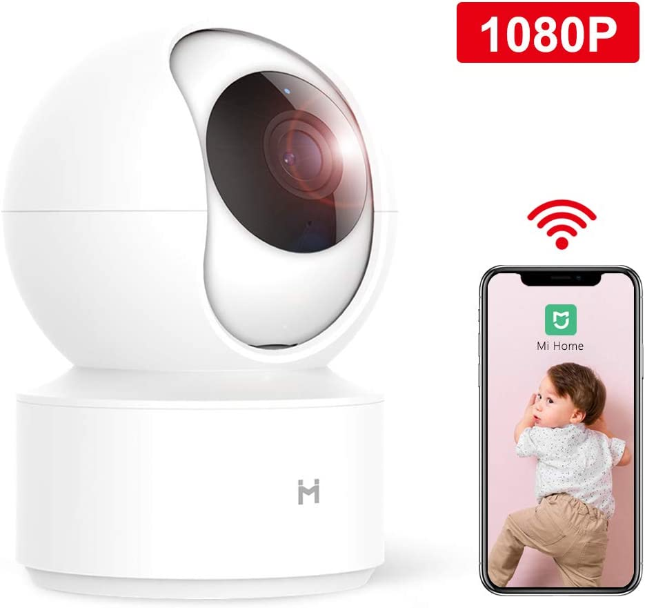 xiaomi Wireless IP Home Security Camera,1080P Surveillance Smart Mi Camera with Two-Way Audio,2.4Ghz WiFi Indoor Dome Camera for Pet Baby Elder Monitor,HD Night Vision,Remote View No SD Card