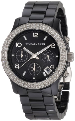 Michael Kors Women's MK5190 Black Ceramic Runway Glitz ()
