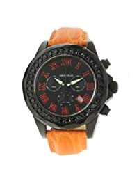 Pro Diver Grand Diver Chronograph Stainless Steel Case Leather Strap Black Tone Dial
