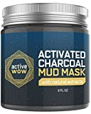 Beauty : Active Wow Charcoal Mud Mask - Deep Pore Facial Cleanser and Healing Formula