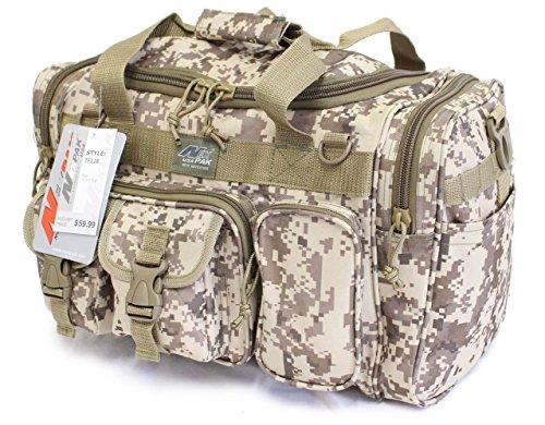 18' 1200 cu.in. Tactical Duffle Military Molle Gear Shoulder Strap Range Bag Digital Camo TAN