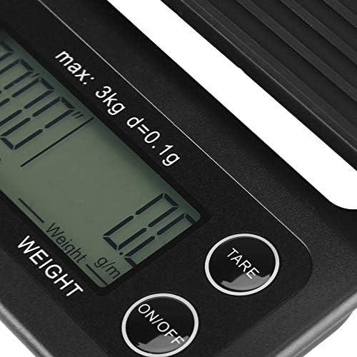 Yunnyp 3Kg / 0. Bilancia Pesapersone Digitale da Cucina 1G con Bilancia Pesapersone con Timer (Retroilluminazione Viola Bluastra)
