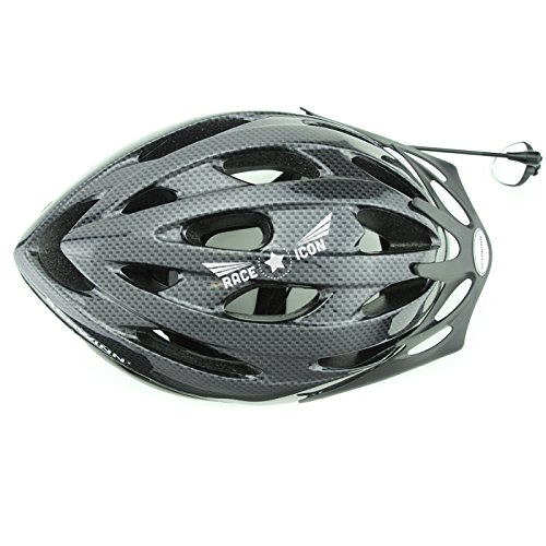 Race Icon Bike Helmet Mirror - Our Clear View Flat Lightweight Bicycle Mirror Is a Must Have for Any Road Cyclist + by Race Icon (Image #4)