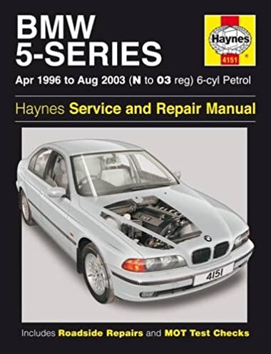 bmw 5 series 6 cyl petrol 96 to 03 haynes service and repair rh amazon com 2008 BMW 523I 1997 BMW 523I