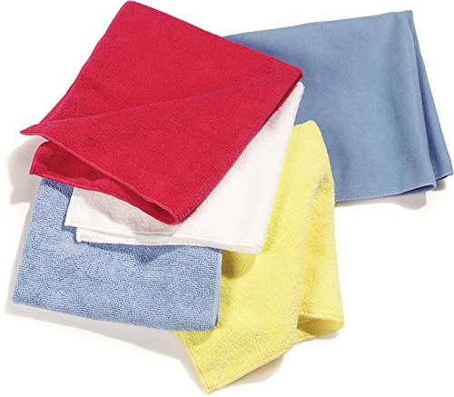 Case of 12 Carlisle 3633402 White 16x16 Terry Microfiber Cleaning Cloth
