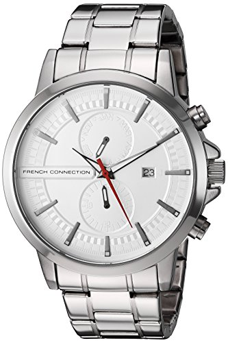 French Connection Men's 'Regent Mk II' Quartz Stainless Steel Automatic Watch, Color:Silver-Toned (Model: FC1270SMA)