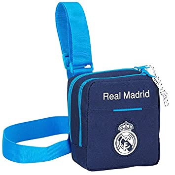 533a5c365 Real Madrid-Bolso bandolera, diseño de escudo, color azul con diseño del Real  Madrid: Amazon.es: Equipaje