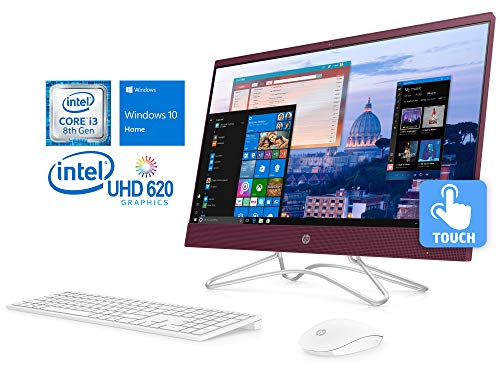 HP Pavilion 24″ FHD All-in-One Touchscreen PC, Intel Quad-Core i3-8100T 3.1GHz, 8GB RAM, 1TB HDD + 16GB Optane, DVD-RW, Card Reader, Wi-Fi, Bluetooth, Windows 10 Home
