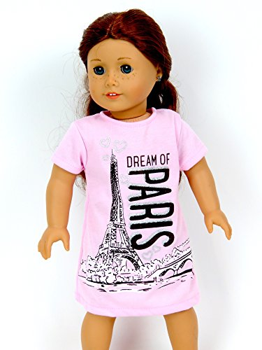 Adorable Pink Paris Nightgown Outfit   Fits 18