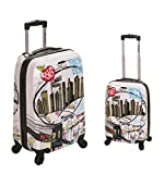 Rockland Luggage 2 Piece Upright Luggage Set, New York, Medium