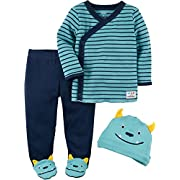 Carter's Baby Boys' 3 Piece Footed Set 3 Months