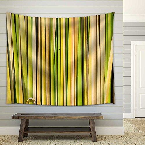 Green Leaf Background Abstract Fabric Wall Tapestry