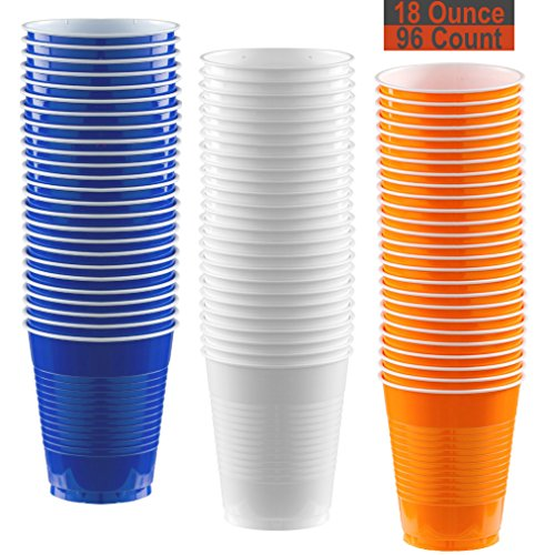 18 oz Party Cups, 96 Count - Royal
