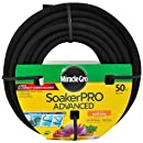 Miracle Gro MGSPA38050CC Premium Soaker Hose with Fittings, 3/8-Inch by 50-Feet