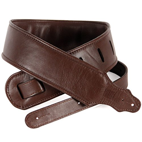 So There Padded Leather Guitar Strap - Genuine Leather Strap