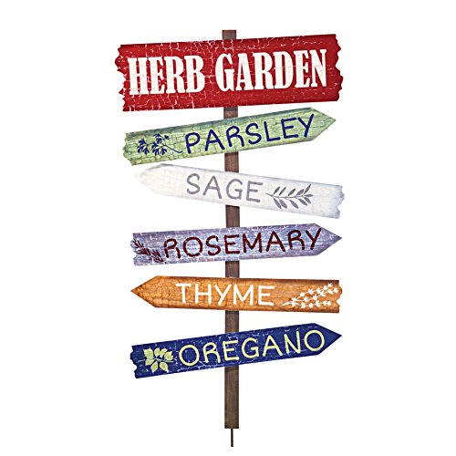 Herb Garden Decor Stake Multi
