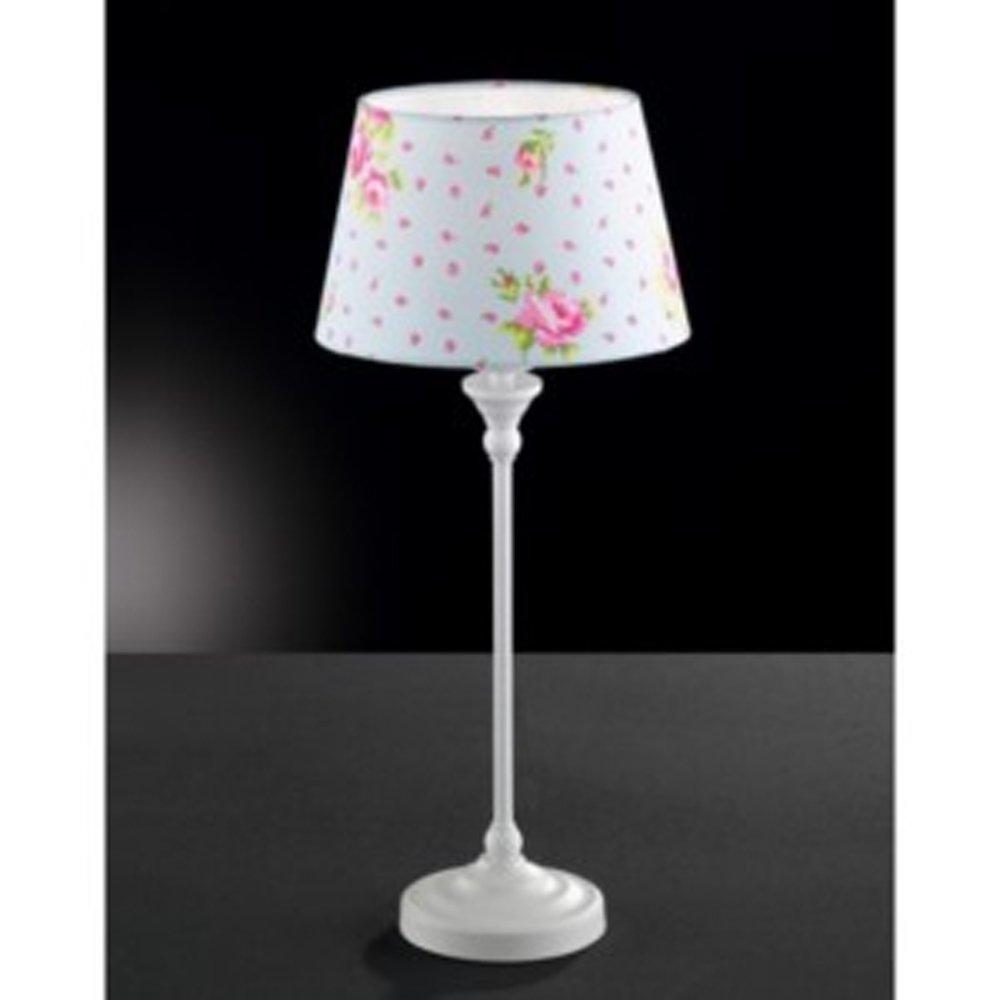 Tischlampe tischleuchte honsel paula fensterbank lampe metall blütendekor amazon de beleuchtung