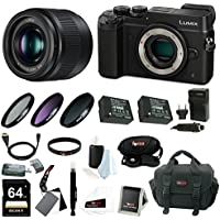 Panasonic Lumix GX8 Mirrorless Camera w/ 25mm f/1.7 Lens & 64GB SD Card Bundl...