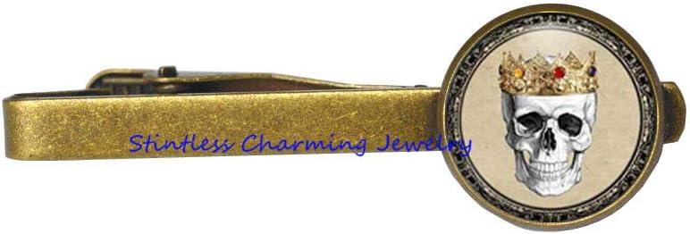 Medical Tie Clip Royal Skull Tie Pin Antique Crown Jewelry,Skull Tie Pin,Skull Jewelry-JV219
