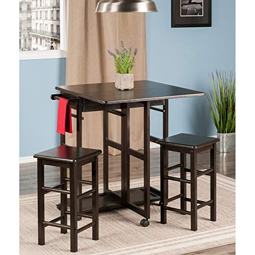 Winsome Wood 23330 Suzanne 3-PC Set Space Saver Kitchen, Smoke by Winsome Wood (Image #3)
