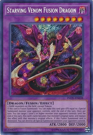 Yu-Gi-Oh! - Starving Venom Fusion Dragon (INOV-EN038) - Invasion: Vengeance - Unlimited Edition - Secret Rare
