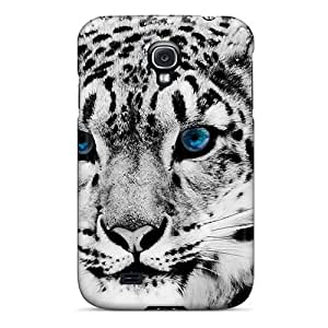 New Diy Design Snow Blue Eye Leopard For Galaxy S4 Cases Comfortable For Lovers And Friends For Christmas Gifts