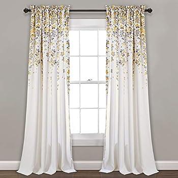 Amazon Com Dkny Modern Bloom Sheer Grommet Window Curtain